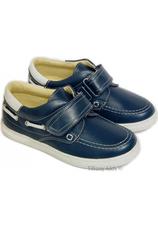 Pantofi piele Leofex Kids Bleumarin