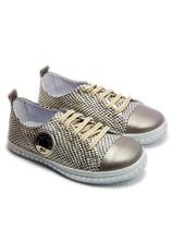 Pantofi sport piele Tag Auriu