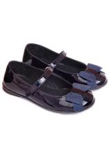 PJ® Balerini piele Bleumarin lac